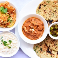 Dhaniya Chapati, Paneer Masala, Kabuli Biryani