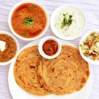 Laccha Paratha, Dum Aloo, Navaratan Rice
