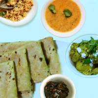 Plain Chapati, Mix Veg